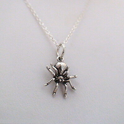 Tiny Spider Necklace - 925 Sterling Silver - Insect Bug Arachnid Halloween NEW ](Bug Halloween)