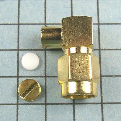 """SMA Male Plug Right Angle 90º for RG-402 0.141"""" : RF Hardline, semi-rigid"""