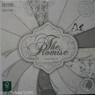 "First Edition 12"" x 12"" Scrapbooking Paper THE PROMISE wedding romance 16 sheets"