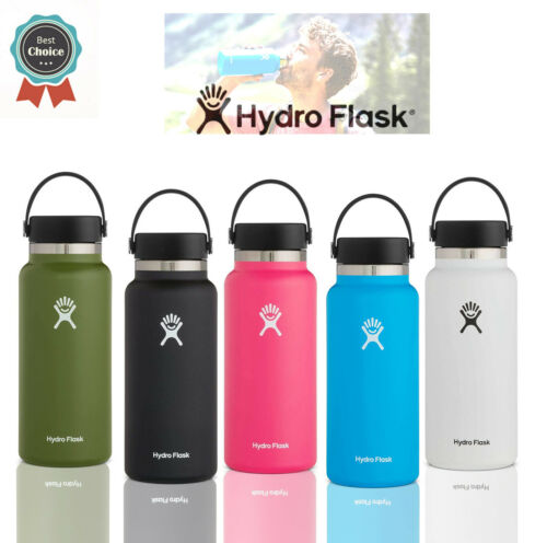 Hydro Flask Water Bottle 32oz. Wide Mouth 2.0 Stainless Steel Vacuum Insulated