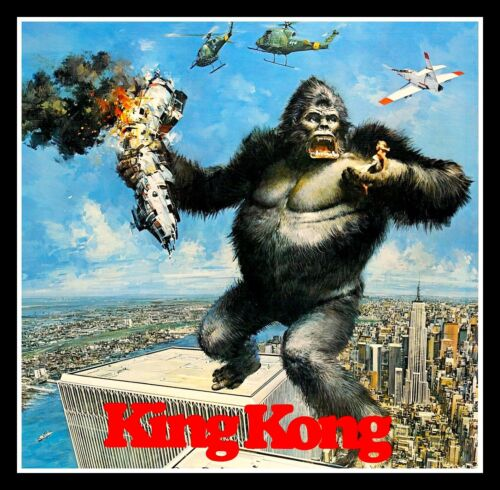 "BIG 4.5"" Classic King Kong vinyl sticker. Movie monster decal for car, laptop."