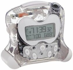 Projection Feature Self-Setting Projection Flip Clock Clear Transparent Edition