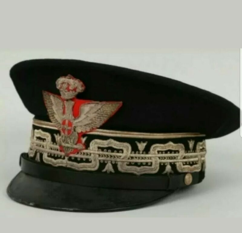Replica Itlay General Royal Army Visor Cap. All sizes available