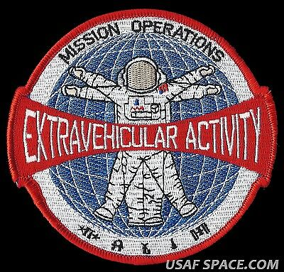 """NASA MISSION OPERATIONS EXTRAVEHICULAR ACTIVITY EVA SHUTTLE ISS 4.5"""" SPACE PATCH"""