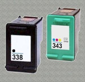cartouches encre pour imprimante photosmart c3180 c3190 hp 338 xl hp 343 xl. Black Bedroom Furniture Sets. Home Design Ideas