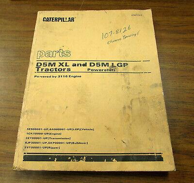 Caterpillar Cat D5m Xl Lgp Parts Catalog Manual Xebp7389 1996