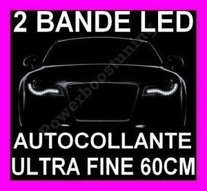bande a led smd adhesif souple blanche phare feux jour diurne feu blanc xenon ebay. Black Bedroom Furniture Sets. Home Design Ideas