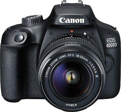 CANON EOS 4000D Kit Spiegelreflexkamera 18 Megapixel Objektiv 18-55 mm f/5.6 NEU