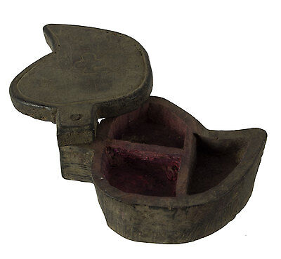 Box Tikka or Spices Wooden India Nepal Rustic Wooden Tikka Box 9844 - E5