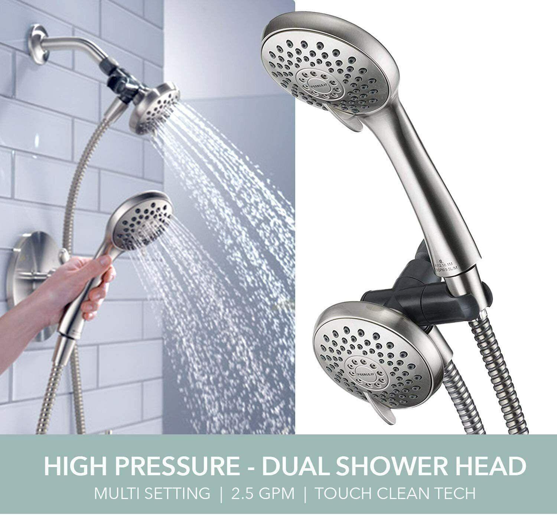 Peerless Satin Nickel 3-Spray Dual Handheld Shower Head Combo Bath
