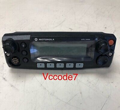 Motorola Xtl2500 Black Face Control Head With Chib Brand New Tested