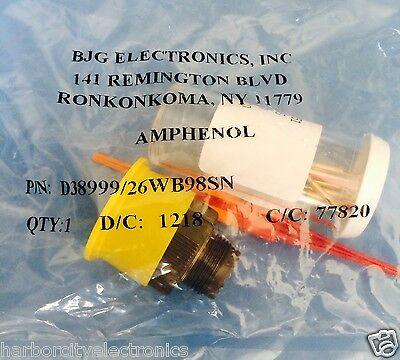 D38999 26Wb98sn Amphenol Bjg Conn Circular Skt 6 Position Crimp St Cable W Pins