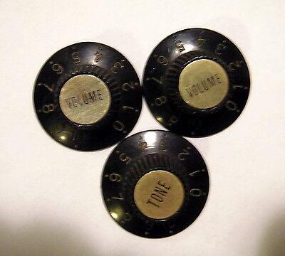 White Witch Hat Volume /& Tone Knob Set 4 pcs   USA Seller   EZPZ GUITAR PARTS