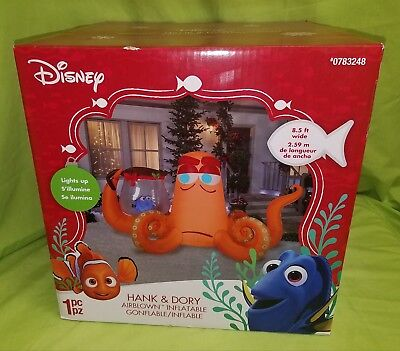 Gemmy Disney Finding Dory Hank 8.5' Wide Inflatable Airblown Yard Decor New