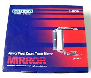 Junior West Coast Truck Mirror **NEW** For Vans, Utes, Pickups