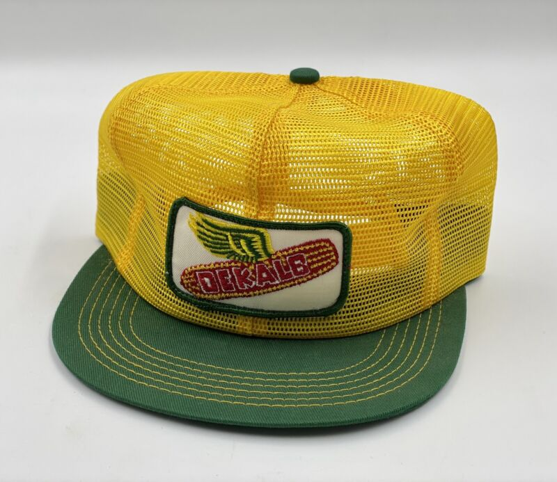VTG DEKALB SEED PATCH FLYING CORN TRUCKER MESH CAP HAT K-PRODUCTS - MADE IN USA!