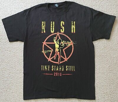 Rush 2016 Time Stand Still Documentary Black Shirt [Large] NEW