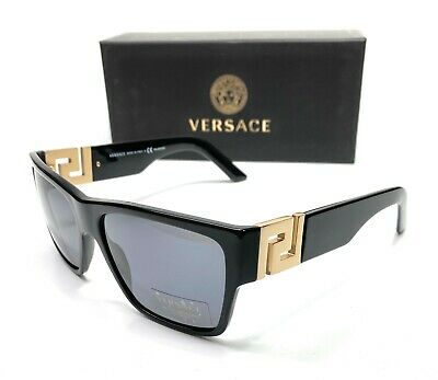 Versace VE4296 GB1 81 Black Men's Square Polarized Sunglasses 59-16
