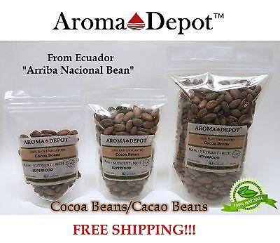 Raw Cacao / Cocoa Beans Raw Chocolate Arriba Nacional Bean 4 oz to 15 Lb Raw Cacao Bean