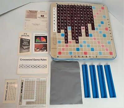 Deluxe Edition Scrabble Crossword Game Turntable 1977 Selchow & Righter 209