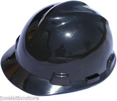 Msa Black V Gard Cap Style Safety Hard Hat Ratchet Suspension New Fast Shipping