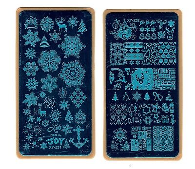 Nail Art Stamping Christmas Theme Stencil Manicure Diy Template Image Plate