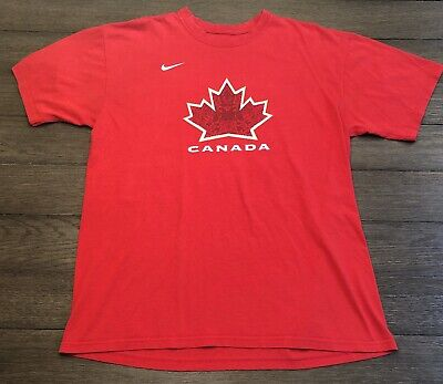 Nike Mens Size Large 2010 Team Canada Martin Brodeur Olympic Hockey T-Shirt  (Team Canada Hockey-t-shirt)
