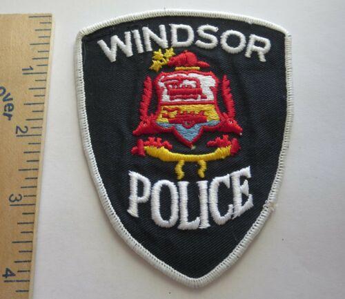 WINDSOR CANADA POLICE PATCH Vintage Original Used