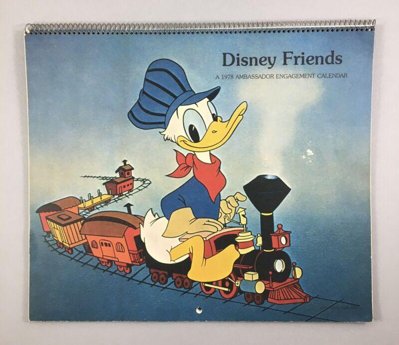 DISNEY FRIENDS Calendar~1978 Ambassador Engagement Calendar~Great Condition