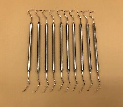12 Dental Probe Explorer 5 Surgical Denture Instrument Non-stick