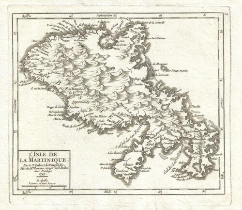 1749 Vaugondy Map of Martinique