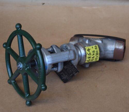 Edward Flowserve 66128 F316 25mm 1860 PSI SCH 80 angle seat forged stop valve BW