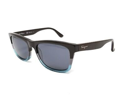 Salvatore Ferragamo Sunglasses SF775S 235 Brown Aqua Rectangular Mens 55x17x145