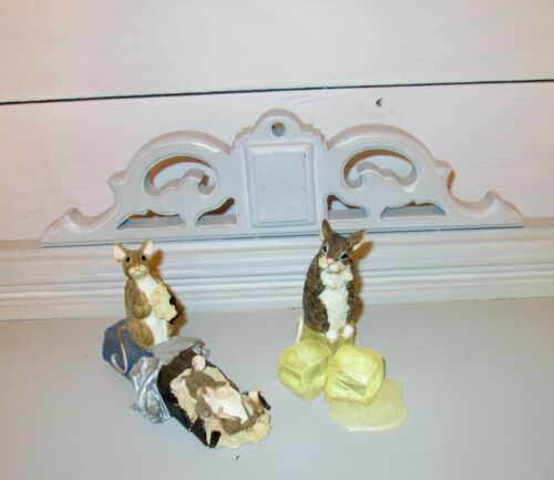 After The Party Mice Figures Figurines On Candy Bar Rocks Limited Edition Mouse
