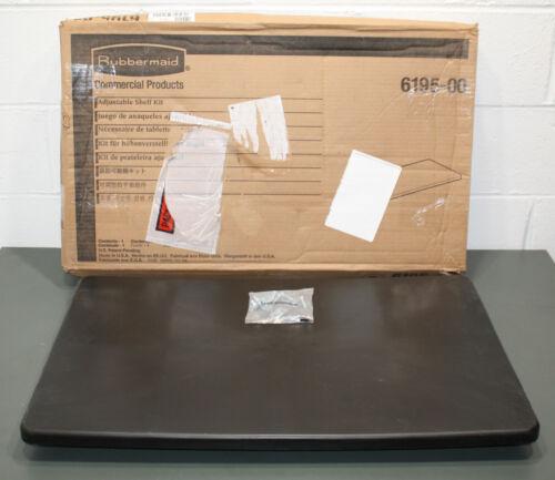 Rubbermaid Adjustable Shelf Kit 6195-00, Black, for Cart FG618900/FG619000