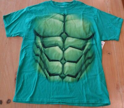 New Walt Disney Parks Marvel INCREDIBLE HULK Costume T-Shirt Mens Large L (Hulk Mens Costume)