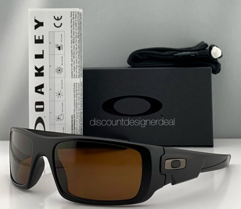 Oakley Crankshaft Sport Sunglasses OO9239-03 Matte Black Brown Lens 60mm NEW