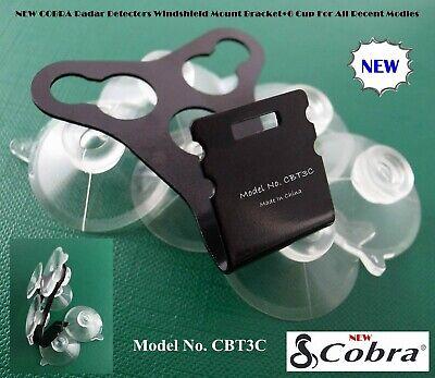 Cobra Radar Detector Windshield Mount - * COBRA Radar Detectors Windshield Mount Bracket + 6 Cup For All Recent Models *
