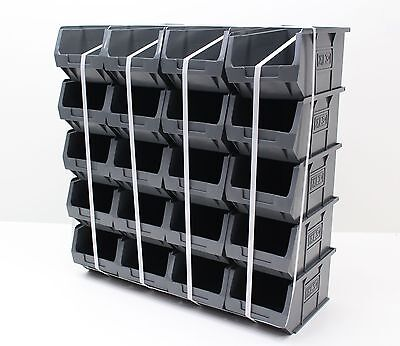 20 x Very Good Condition Plastic Parts Storage Bins Boxes - Grey Size 3