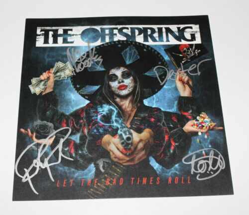 THE OFFSPRING SIGNED LET THE BAD TIMES ROLL ALBUM INSERT FLAT COA DEXTER HOLLAND
