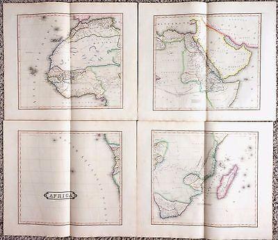 HUGE Antique AFRICA Map 1831 Rare Four-Sheet Edinburgh 38x44 Fine Engraved