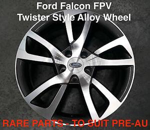4 x TWISTER FPV Style 18 inch Alloy Wheel Titanium Ford Falcon EB ED EF EL XG XH