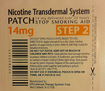 Habitrol Nicotine Transdermal System Patch 14mg Step 2 14 PATCHES (2-week kit)