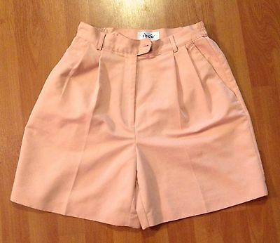 afec1273 Golf Shorts by IZOD Size 6 Peach Microfiber Polyester Elastic sides Front  Pleats