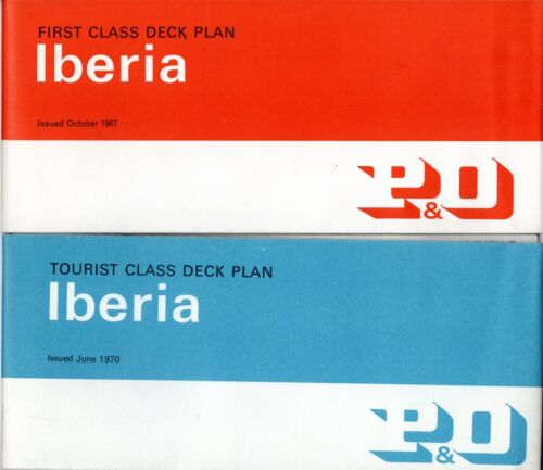 P&O IBERIA First & Tourist Deck Plans w/ Interiors - NAUTIQUES sHiPs WORLDWIDE