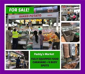 FULLY EQUIPPED FOOD CARAVAN PLUS 4 BUSY SPOTS FOR SALE