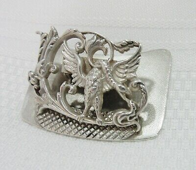 Antique Aesthetic Sterling Silver Desk Paper Clip Winged Creature Geo. Shiebler