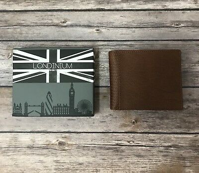 New Londinium by British Belt Company Tan Leather Bifold Wallet