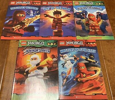 Set of 5 Ninjago Lego Books by Scholastic MINT