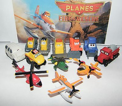 Disney Planes Fire and Rescue Movie Figure Set of 12 with Dusty, Blade and More - Disney Dusty Plane